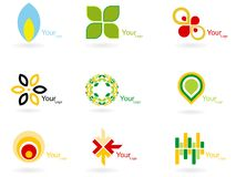 Abstract logo collection Stock Image