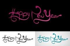 Happy new year. Abstract logo design eps stock illustration