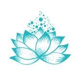 Abstract Logo Design of Lotus Flower Stock Photo