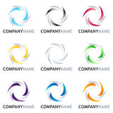 Abstract Logo Design Set Royalty Free Stock Images