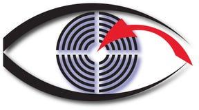 Abstract logo of an eye. Vector illustration Stock Photography