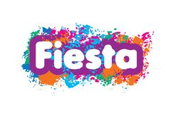 Abstract logo for the Fiesta. Vector illustration.  stock illustration