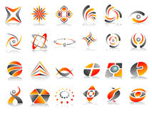 Abstract Logo Icon Design Set Royalty Free Stock Photo