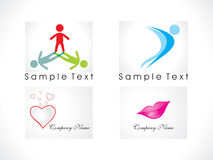 Abstract logo icon set Royalty Free Stock Photo