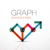 Abstract logo idea, linear chart or graph  business icon. Creative  logotype design template Stock Photography