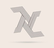 Abstract  logo made with lines. Royalty Free Stock Photos