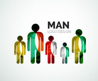 Abstract logo - man icon Stock Image