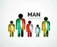 Abstract logo - man icon Stock Image