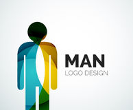 Abstract logo - man icon Royalty Free Stock Photo