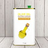 Abstract Logo Olive Oil Extra Virgin Metal kan het 3d teruggeven vector illustratie