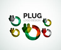 Abstract logo - plug icon Royalty Free Stock Photography