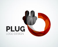 Abstract logo - plug icon Royalty Free Stock Photos