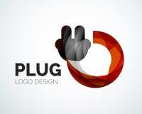 Abstract logo - plug icon Royalty Free Stock Photos