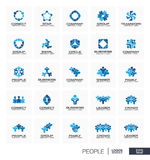 Abstract logo set for business company. Royalty Free Stock Images