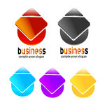 Abstract logo set Stock Photo