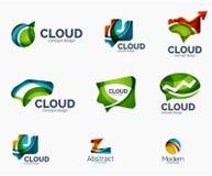 Abstract logo set, geometric transparent shapes Stock Image