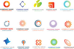 Abstract logo shapes Stock Photo
