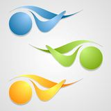 Abstract logo shapes template design Royalty Free Stock Photo