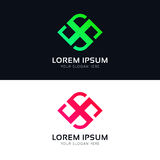 Abstract logo sign company icon vector design Royalty Free Stock Image