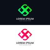 Abstract logo sign company icon vector design. Logo sign company icon vector design Royalty Free Stock Image