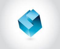 Abstract logo template. Logic puzzle cube Stock Photography