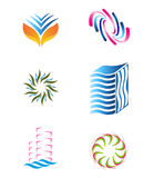 Abstract Logo template set Stock Photo
