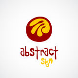 Abstract logo template. Unusual sign. Royalty Free Stock Photography