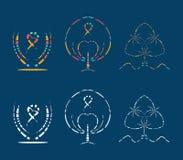 Abstract logo and tree vector. Abstract logo volunteer and tree water vector Royalty Free Stock Photos