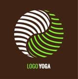Abstract logo Yin Yang, symbol harmony and balance. Abstract symbol Yin Yang on dark brown background. Vector logo for yoga center or medical Company. yin yang Royalty Free Stock Photography