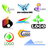 Abstract logos collection. In vector royalty free illustration