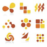 Abstract logos / icons Stock Photography