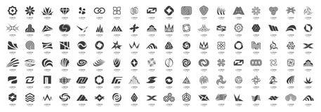 Abstract logos mega collection royalty free illustration