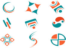 Abstract Logos for Websites. Nice two color abstract logo's suitable for any websites Stock Images