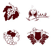 Abstract logotype or design element for wine labels Stock Images