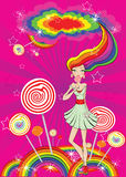 Abstract lollipop girl Royalty Free Stock Image