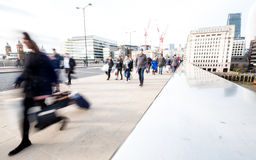 Abstract London commuters Stock Photography
