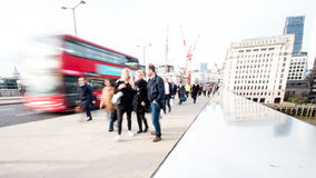 Abstract London commuters Stock Photo