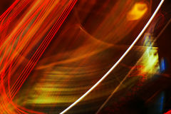 Abstract long exposure colorful street light as background Royalty Free Stock Photos