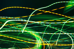 Abstract long exposure colorful street light as background Royalty Free Stock Photography