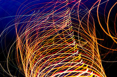 Abstract long exposure light streaks Stock Image
