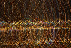Abstract Long exposure  lights Royalty Free Stock Photo