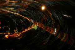 Abstract Long exposure  lights Royalty Free Stock Photography