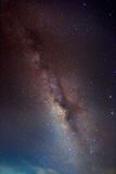 Abstract long exposure photography of milky way and star in the night sky Royalty Free Stock Images