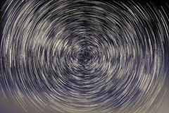 Abstract long exposure of star trails background Stock Photography