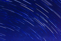 Abstract long exposure of star trails background Royalty Free Stock Photography