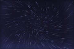 Abstract long exposure of vortex star trails background Stock Photography