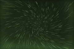 Abstract long exposure of vortex star trails background Royalty Free Stock Photos