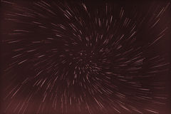 Abstract long exposure of vortex star trails background Royalty Free Stock Photography