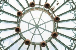 Abstract : Look up , pots & Beams Stock Photos