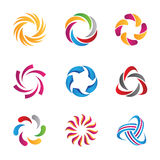 Abstract loop logos and icons template. Enjoy Vector Illustration